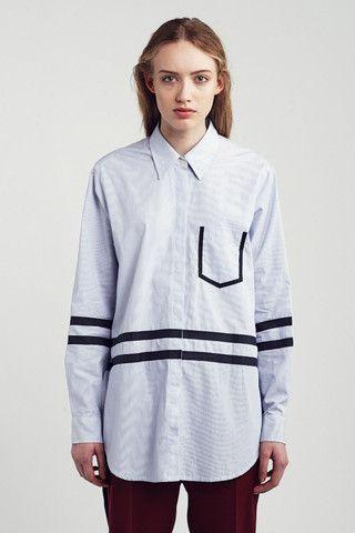 Wood Wood Juliette Shirt - Blue/White