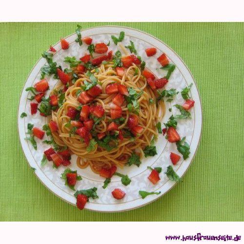 Erdbeerspaghetti