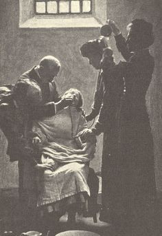 Forcefeeding in case of so-called hysteria. This was used with mental patients and prison inmates who protested by going on hunger strike, e.g. as with suffragette prisoners.