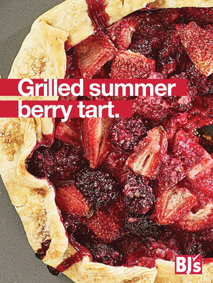 Grilled Summer Berry Tart Recipe: Here's an easy summer dessert. Filled with fresh fruit, this grilled pie goes great with ice cream.http://stocked.bjs.com/food/recipes/grilled-summer-berry-tart