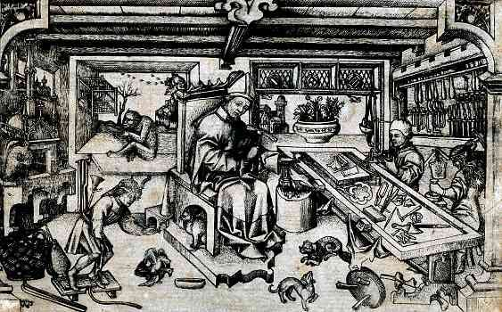 A Medieval Guild Goldsmiths was a very skilled craftsman and would have been in a medieval Guild which controlled the standard of work