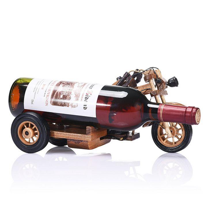 安い木製オートバイ ワイン ホルダー ボトル ラック木製ワイン ラック創造家の装飾パーソナライズ装飾品用バー、購入品質ワイン ラック、直接中国のサプライヤーから:  当店へようこそ木製オートバイワインホルダーボトルラック創造的な木材のワインラックの家の装飾のためのパーソナライズ飾りバーdetals製品名:ワインホルダーhw-0695材料:ス