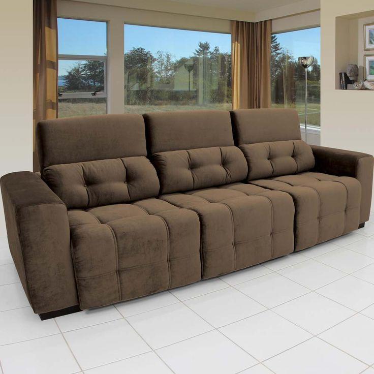25 best ideas about sof retr til 4 lugares on pinterest for Sofa 5 lugares reclinavel e assento retratil