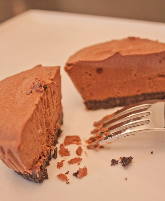 Savour Sisters: Day 5: Chocolate Mint Frangos. Indulgent frozen chocolate mint mousse on a cookie crumb base.