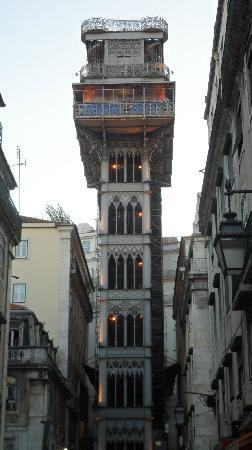This elevator is located inside a gothic tower, which provides quick and easy transport between Lisbon's Baixa and Bairro Alto districts.