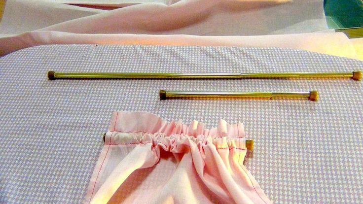 Tutoriales de costura: Cómo hacer un visillo rápido y sin hilvanar