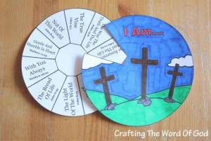 """This Bible craft is for teaching on the """"I Am's"""" of Jesus. Instead of asking our kids who they think Jesus is, we can lead them through scripture and show them who Jesus is. We should show them who Jesus Himself said He was. And that is exactly what this craft will accomplish."""