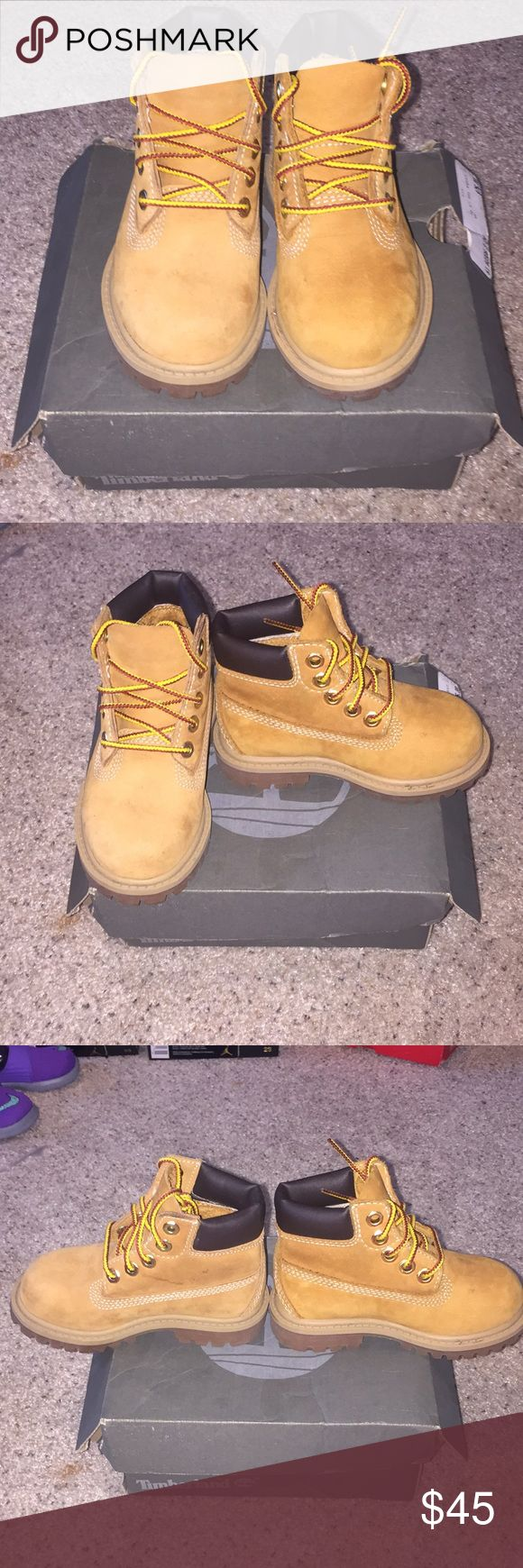 Kids Timberland Boots Timberland boots size 6 wheat, really good condition. Comes with box Timberland Shoes Boots