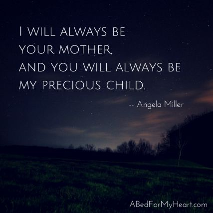 """as bereaved mothers, our deepest cry and longing is for our motherhood to be honored and recognized. for {all} our children, in heaven or on earth, to be remembered."" 