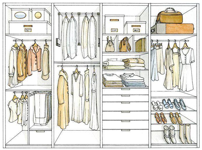 M s de 15 ideas fant sticas sobre armarios empotrados en - Organizacion armarios ...