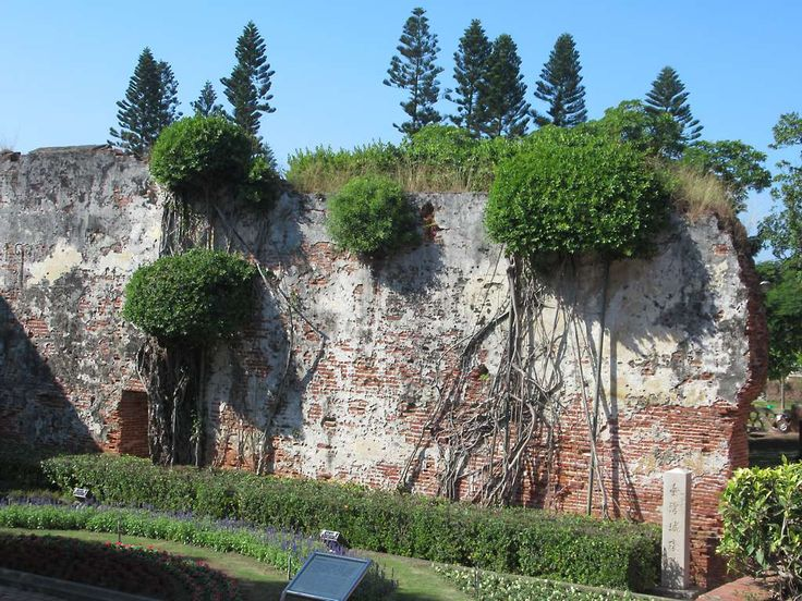 Much of 17th century Fort Zeelandia (Anping Fort) at Tainan, Taiwan, has been rebuilt but a few crumbling remains from Dutch times are still seen.