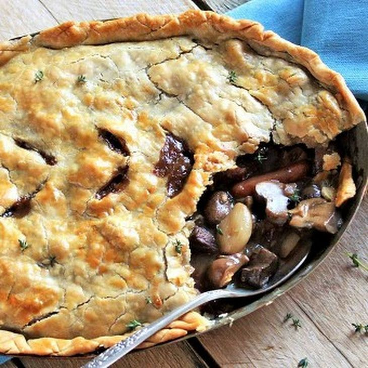 Beef Burgundy Pot Pie Recipe Main Dishes with bacon ...
