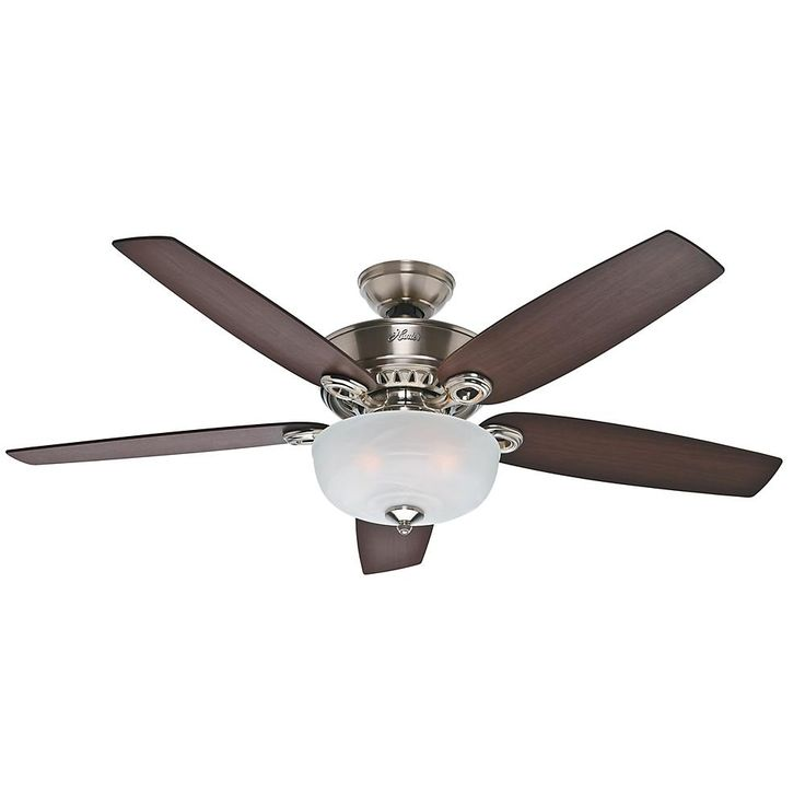 19 best fans images on pinterest ceiling fans with lights oil rejoice the fresh breeze during summer by installing this hunter hillandale indoor brushed nickel ceiling fan sciox Images