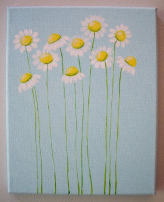 8x10 daisy canvas by JessStanford on Etsy, $25.00