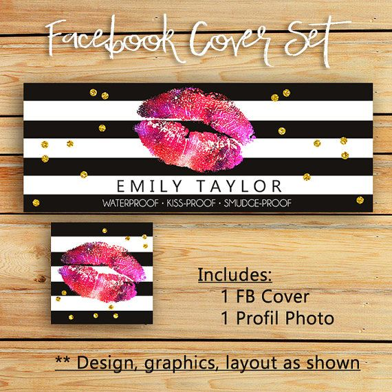 Lip sense Facebook and Instagram Cover Photo by VickyDigital