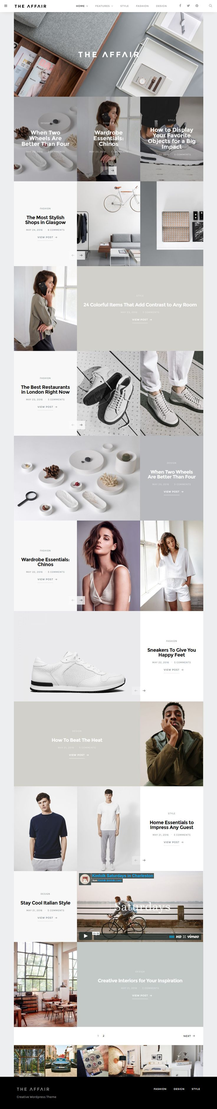 The Affair - Creative #Theme for Personal Blogs and Magazines by codesupplyco #wordpress #website