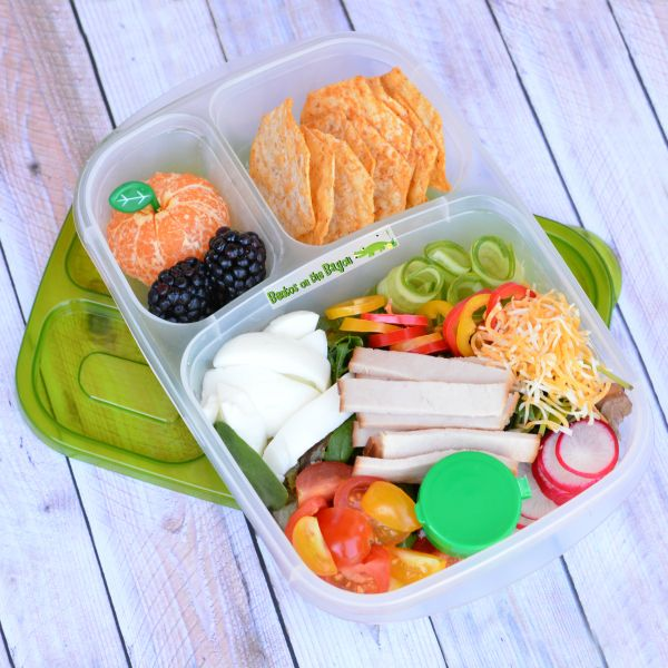 How to pack a cobb salad for lunch | with @EasyLunchboxes containers