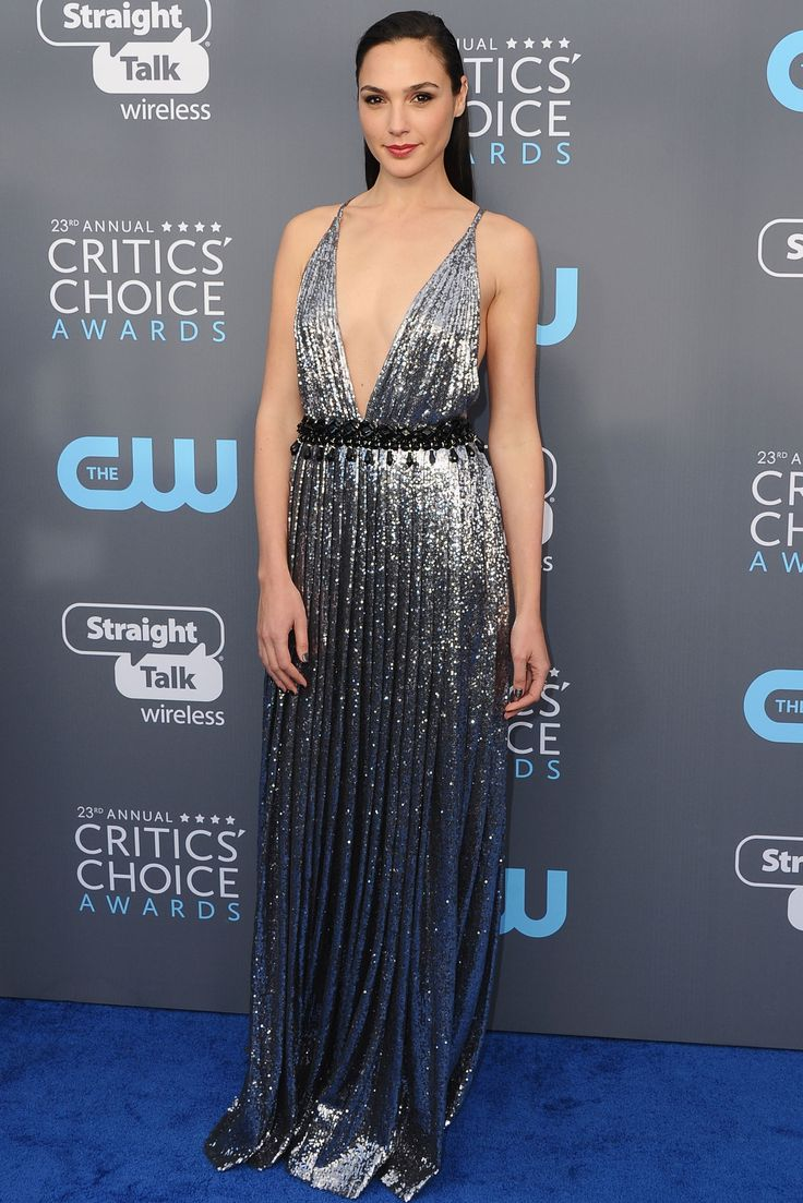 All the Gorgeous 2018 Critics' Choice Awards Red Carpet Arrivals - Gal Gadot from InStyle.com