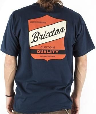 Brixton Clothing Mens Shirt Ratchet Navy Back.