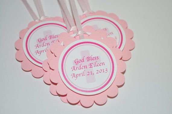 12 Baptism or First Communion Favor Tags - Baptism or First Communion Party Decorations on Etsy, $10.00