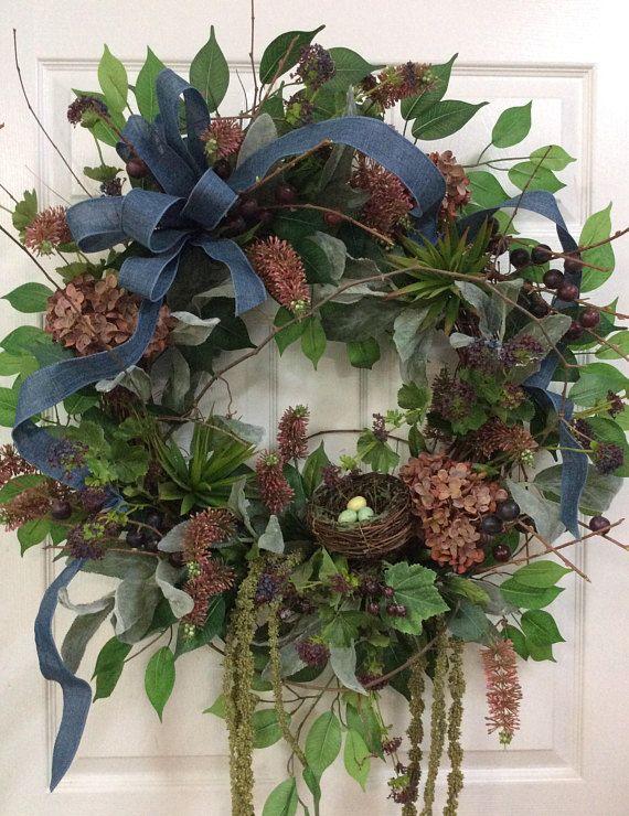 large wreath for door Unique door wreaths wreath with