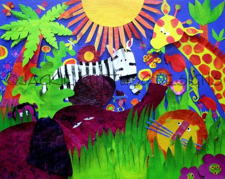 ... wild animals kids room art kid art kids rooms jungles forward jungle