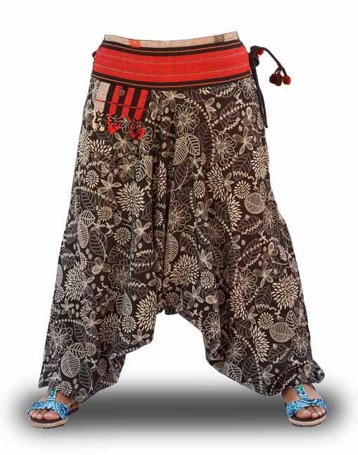 Pantalones Cagados Étnicos de algodón 100%. 20,40€ con códigos descuento NEW-SAVARI y SAVARI-2016
