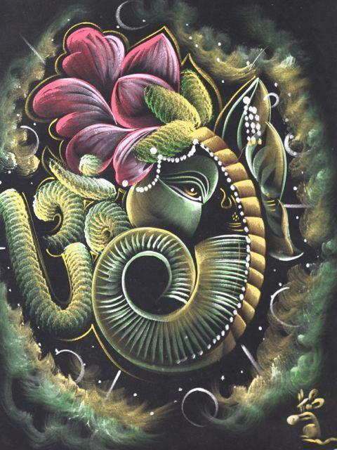 Hd wallpaper ganpati - Lotus Ganesha Art