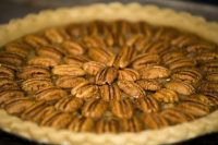 Pecan pie with Splenda (check comments for corn syrup replacement)