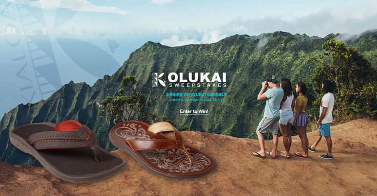 Win 3 Pairs of Olukai® Sandals! Please enter via this link:  http://swee.ps/dUVbXMwap