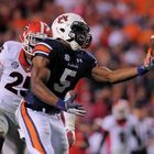 Auburn receiver Ricardo Lewis hauls in the game-winning touchdown pass against Georgia Saturday night. (USA Today) A great catch: The catch of the year, truly perfection, was the UCF player in the end zone, outstretched, pulled the pass in with...