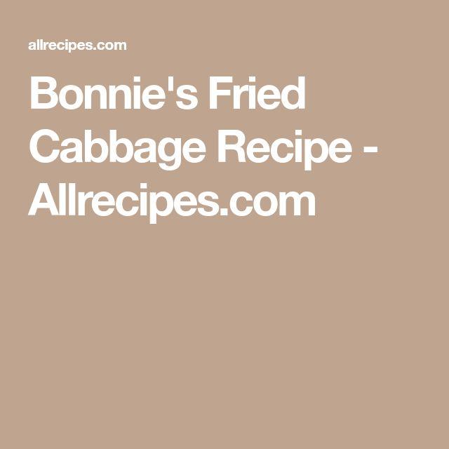 Bonnie's Fried Cabbage Recipe - Allrecipes.com