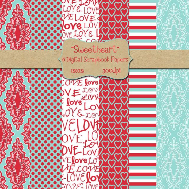 Here's a little digital paper pack FREEBIE for you!  Valentine's Day will be here soon so here's a little something for you digital scrapbookers out there.  Hope you enjoy!!