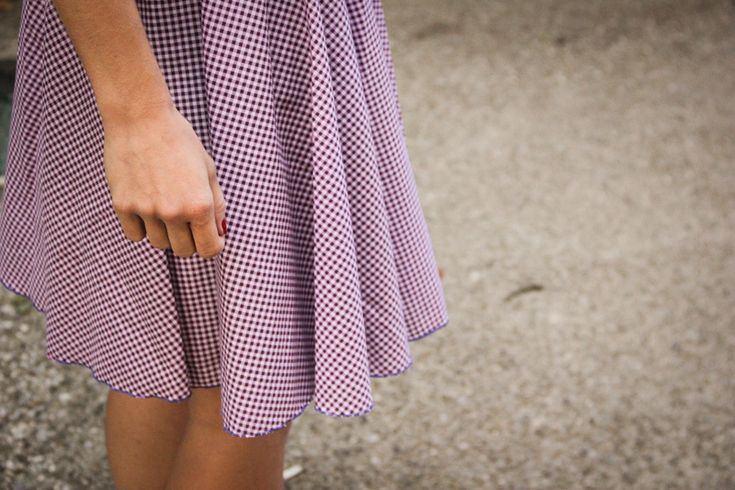 Jupe couture Frou-Frou en tissu Vichy façon Bardot par Seven Lan
