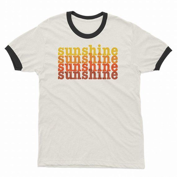 0817c9c9c86 Sunshine Vintage Style Retro T Shirts | Positive Words Shirt | Tees ...