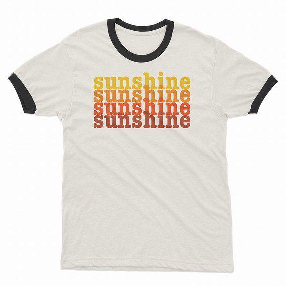 ff58f64cef47f Sunshine Vintage Style Retro T Shirts | Positive Words Shirt | Tees ...