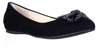 Jessica Simpson Movey Jeweled Bow Ballet Flats, Black.