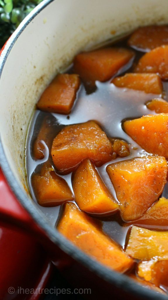 how to make candy yams on the stove