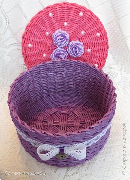 Поделка изделие Плетение Большие коробки+ Трубочки бумажные фото 20