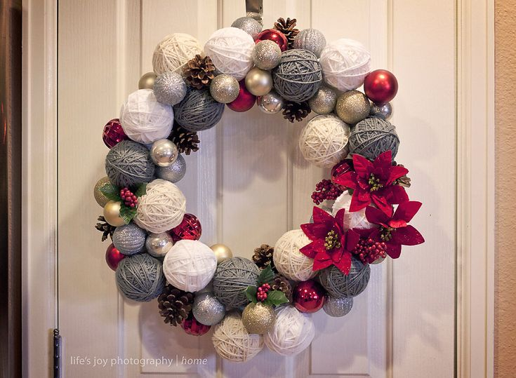 Decorating Wreath With Christmas Balls 19 Best Christmas Ornament Wreaths Images On Pinterest  Christmas