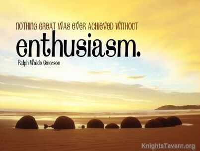 """Nothing great was ever achieved without enthusiasm."" -Ralph Waldo Emerson inspirational quote desktop wallpaper (click to download)"