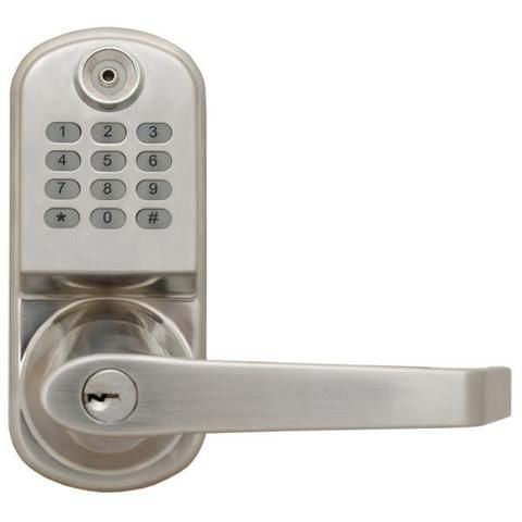 ResortLock 2000 Digital Door Lock Features 800 User Access Codes for Keyless Entry, Silver
