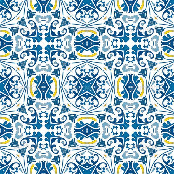Seamless Pattern Traditional Wallpaperportuguese Tilesmosaic