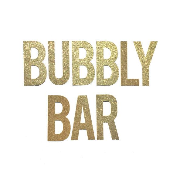 Bubbly Bar Sign Banner // Bridal Shower Banner Decor // Bachelorette Party Decoration // Engagement Party