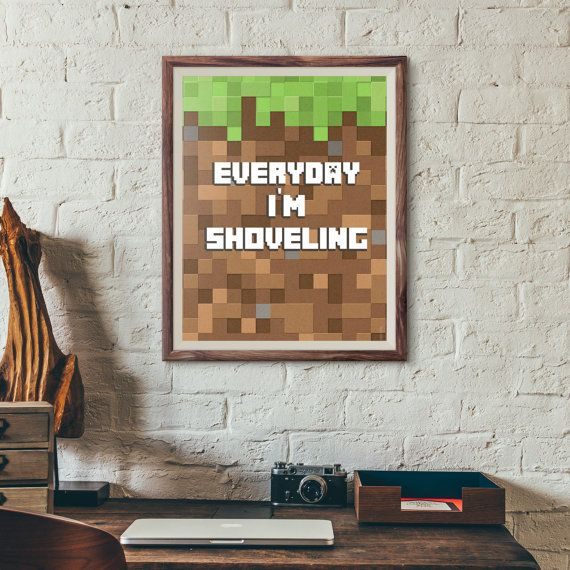 Minecraft Poster / Geek poster / Minecraft paint / wall art / game poster