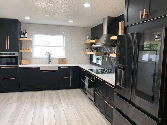 Customer Remodels Ikea Kitchen With All Black Design Black Ikea