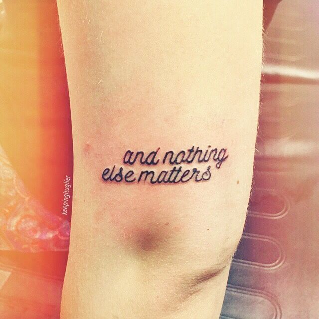 Today I got my first tattoo at Fair Trade Tattoo (Clayton, NC)! It's Metallica's Nothing Else Matters #metallicafamily