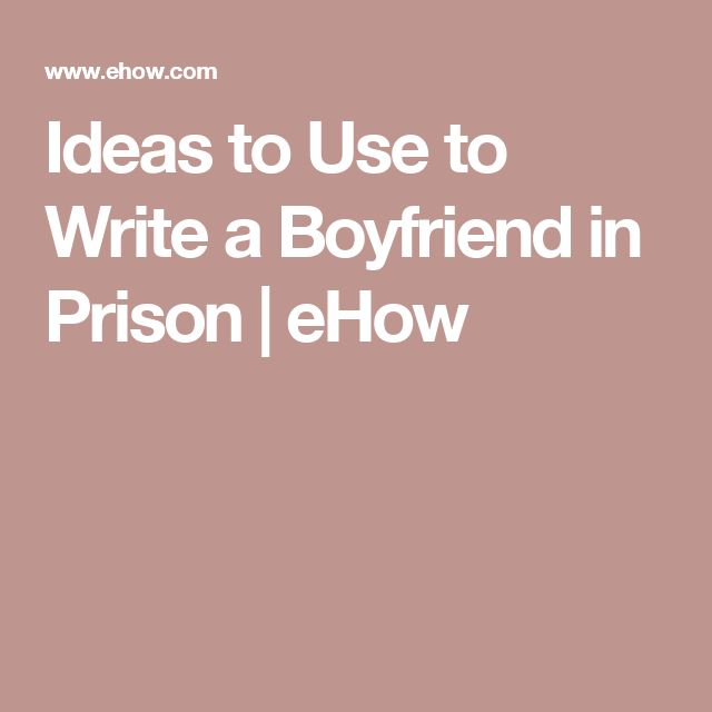 How to Write a Letter to a Prisoner