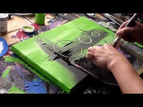 Abstract Acrylic Painting / Speed Painting / Inspiration by Roxer Vidal – YouTube