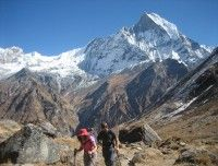 Heading to ABC from MBC.. http://www.nepalmotherhousetreks.com/abc-trekking-through-poon-hill.html